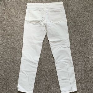 Gap real straight white jeans
